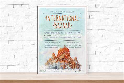 Watercolor Bazaar Flyer Template Flyer Templates On Creative Market Bazaar Flyer Template