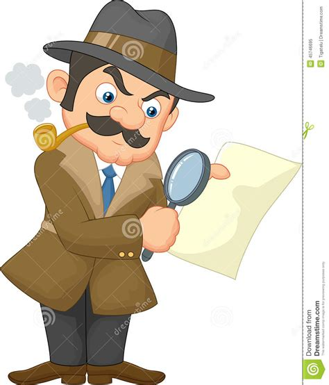 map of the united states big cartoon detective man stock vector image 45746695