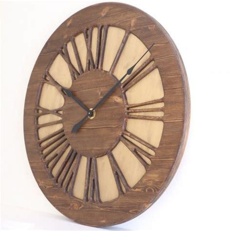 Handmade Clocks Uk - handmade 40 quot vintage numeral wall clock wood