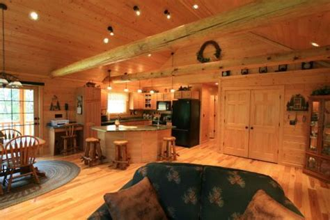 open floor plan log homes beautiful great room log cabins