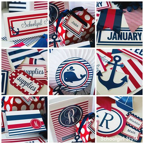 nautical themes preppy nautical classroom theme schoolgirlstyle