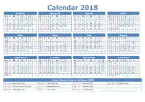 Kalender 2018 Til Print Printable Calendar 2018 Templates Print Calendar Template