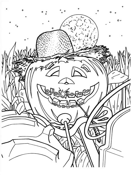 free coloring pages of fall or halloween