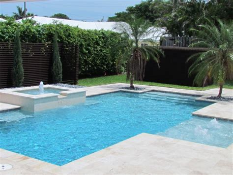 modern pool contemporary pool with fountain manalapan florida