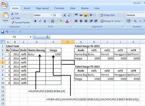 buat kartu nama di excel ragam informasi menggabungkan fungsi if dan hlookup di excel
