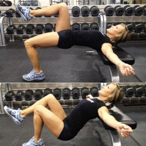 glute bridge on bench the one glutes exercise you should be doing but probably