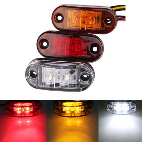 1pc 24v 12v led side marker lights for trailer trucks