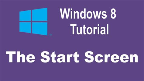 youtube tutorial windows 8 microsoft windows 8 training the start screen windows