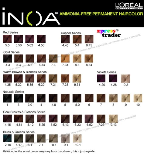 loreal inoa supreme colour chart pin loreal inoa supreme color chart genuardis portal on