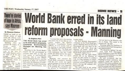 world bank 2007 zambia conservation world bank erred manning