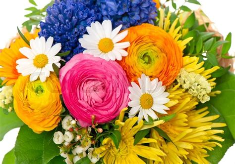 colorful spring flowers bouquet bouquet of colorful spring flowers stock photo colourbox