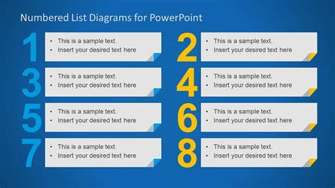 Numbered List Layout Template For Powerpoint Slidemodel What Is A Template In Powerpoint