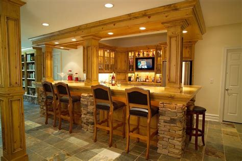 Residential Bars Residential Bars Traditional Kitchen Newark By