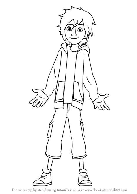 learn how to draw hiro hamada from big hero 6 big hero 6