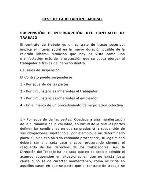 carta de cancelacion de contrato con justa causa cese de la relaci 243 n laboral