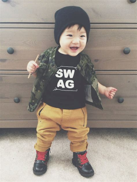 Image of swag t shirts gender neutral tees modern baby clothes screen printed family goals