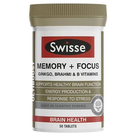 Liver Detox Tablets Chemist Warehouse by Buy Swisse Ultiboost Memory Focus 50 Tablets At