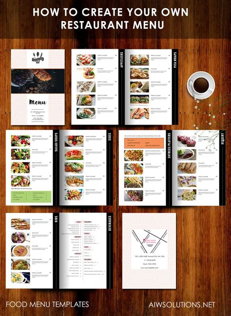 custom menu template 18 best images about menu templates on