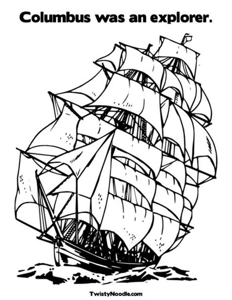 free coloring pages of explorers ships