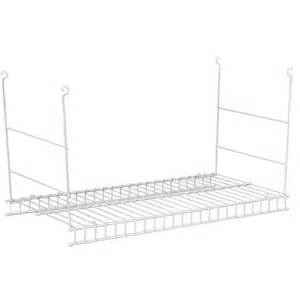 hanging wire shelves closetmaid 24 in hanging wire shelf white shop your