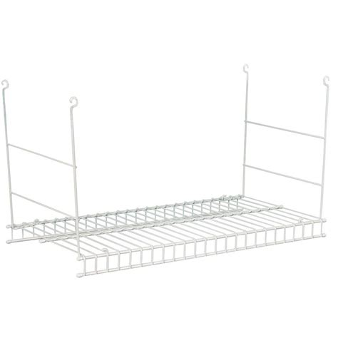 closetmaid 24 in hanging wire shelf white shop your