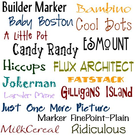 typography names pics for gt girly fonts