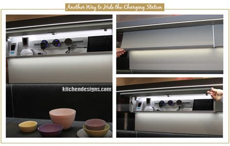 kitchen charging station new kitchen desk landing no bulky phone chargers