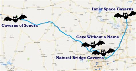 texas caverns map road trips the daytripper