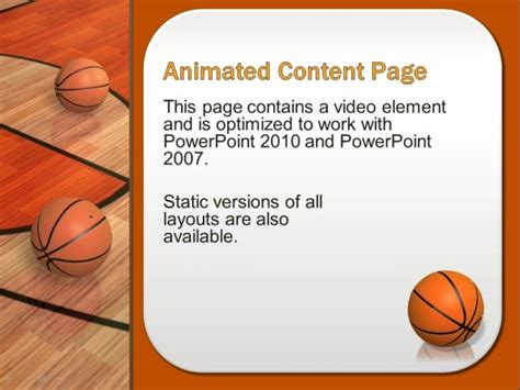 Animated Basketball Powerpoint Template Basketball Powerpoint Presentation