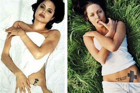 angelina jolie tattoo cover your body is a canvas