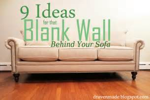 inexpensive sectional sofas draven made 9 ideas for that blank wall behind the sofa
