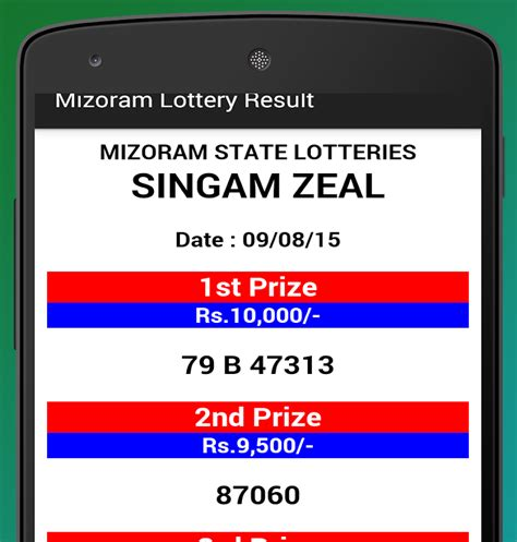 android lottery post mizoram lottery results android apps on play