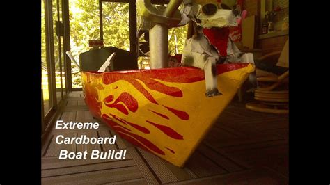 how to build a boat out of cardboard extreme cardboard boat build how to make a cardboard