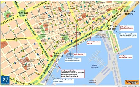 map of alicante city estal espaa for language processing