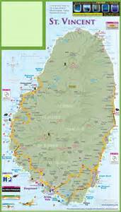 map st vincent and the grenadines large detailed tourist map of vincent island