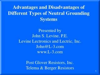 disadvantages of neutral grounding resistor ppt earthing grounding powerpoint presentation id