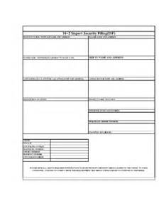 blank isf form fill online printable fillable blank