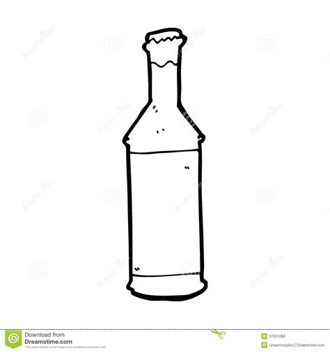 cartoon beer black and white cartoon beer bottle stock photo image 37031280