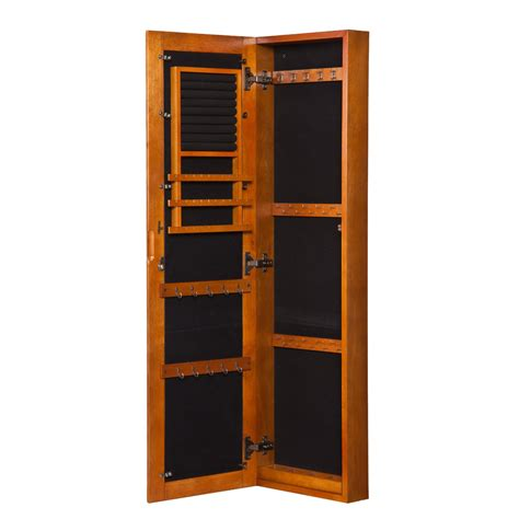 standing armoire furniture jewelry box with mirror free standing jewelry