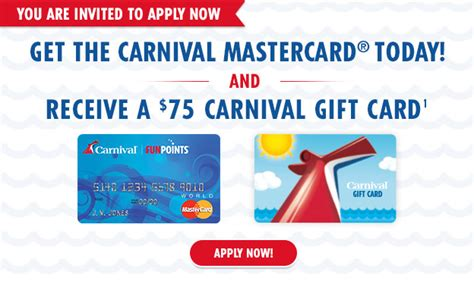 Carnival Gift Cards For Sale - carnival cruises apply now get a 75 carnival gift card milled
