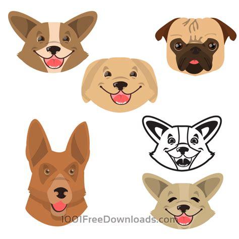 puppy vector free vectors smiling happy dogs vector set nature