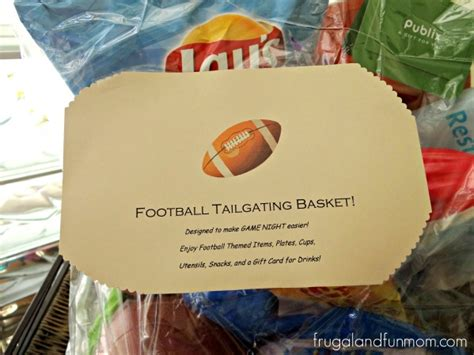 football themed gift basket idea perfect  tailgating