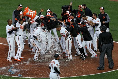orioles play of the trumbo hits walkoff home