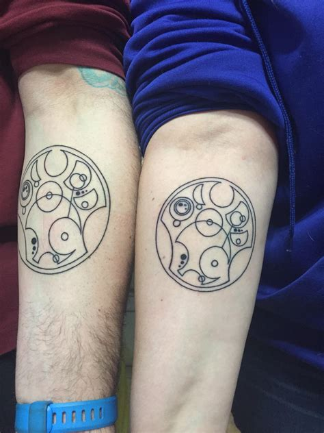 doctor who couple tattoos our matching doctor who tattoos for our anniversary a