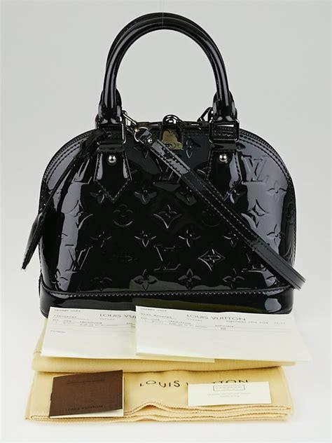 Bb Bag louis vuitton black magnetique monogram vernis alma bb bag yoogi s closet