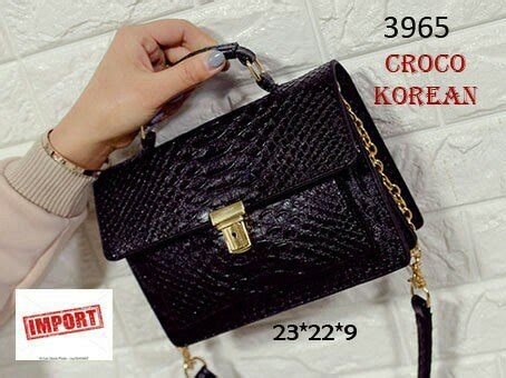 Dompet Hp 2 Wanita Alexia Crocodil Hitam jual tas selempang wanita import croco korean style warna hitam di lapak sagwa shop sagwa shop