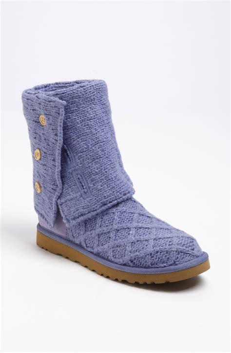 ugg cardy boots ugg cardy boot in purple metallic provence lyst