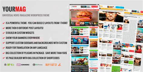 download newspaper v4 6 1 wordpress theme nulled themelord yourmag v1 6 1 universal wordpress news magazine theme