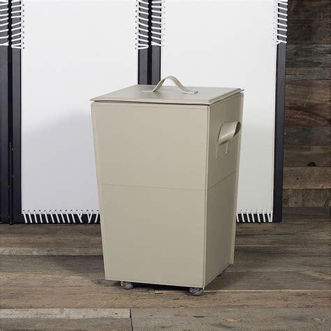 porta biancheria vaso contenitore porta biancheria in cuoio e legno con