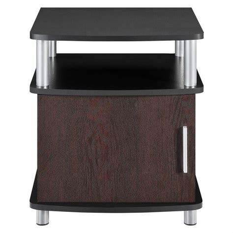 accent tables with storage end table with storage in cherry and black 5083196